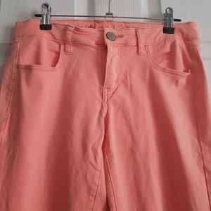 American Eagle Coral Stretch Jeggings